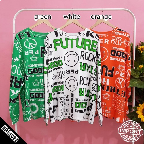 IMPORT BL10753 kaos oversized