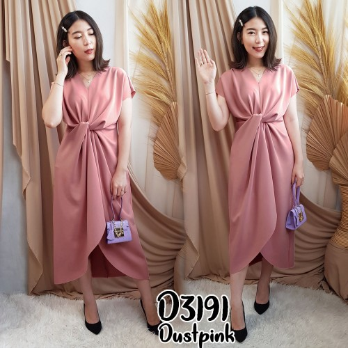 D3191 front twisted dress