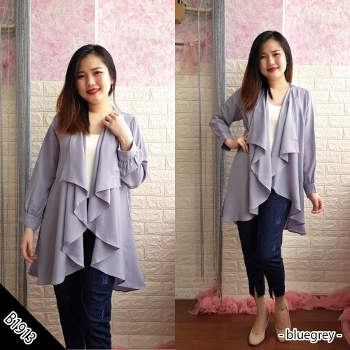 B1913 layered cardigan