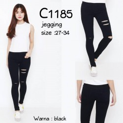 C1185 jegging Black