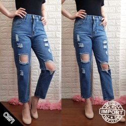 IMPORT C1871 ripped jeans