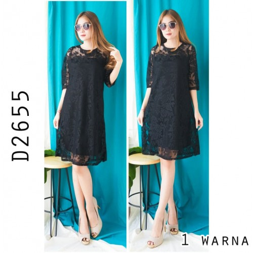 D2655 dress brukat